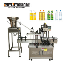 Automatic plastic pet bottle top lid screw inline twist off capping sealing machine for plastic jar and spindle capper