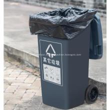 Bolsa de basura de plástico con sellado de fondo plano de gran tamaño