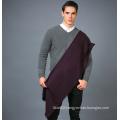 100% Men′s Wool Scarf in Solid Color Yarn Dye Wool Scarf