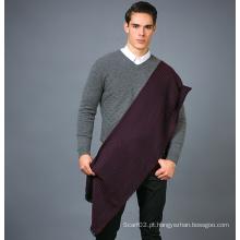 100% lenço de lã para homens em cor sólida lenço de lã lenço de lã