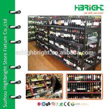 Metal beverage and liquor bottle display shelf