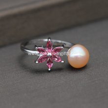 8-9MM Natural Cultured Freshwater Pearl Finger Ring
