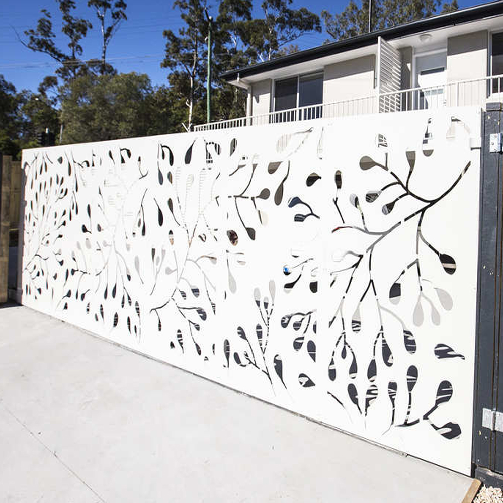 Artistic Laser Cut Metal Gates