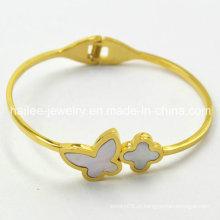 Hot Sale borboleta 316L pulseira de aço inoxidável para as mulheres