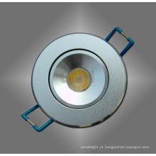 Branco / quente branco 1W LED Spot de luz de teto para a habitação de longa vida útil