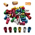 Colorful bicycle pump mouth presta valve cap converter