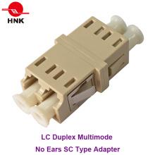 LC Duplex Multimodo Sem Orelhas Sc Tipo Fibra Óptica Adaptador