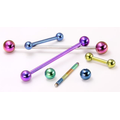 14g Titanium Straight Barbell 18 Color Choices