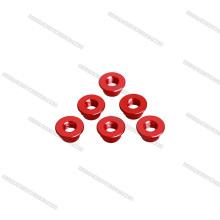 Porcas de alumínio de cor vermelha AR15