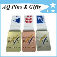 Medallas de deportes al por mayor con diferentes colores de chapado