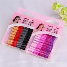 Encaixes de cabelo embalados em forma de onda colorida de 6cm da onda dos miúdos (JE1004)
