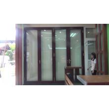 Usine de la Chine produisant des portes pliantes en alliage d'aluminium BI / porte pliante articulée bi