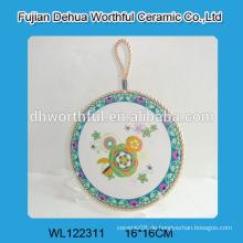 Dekorative keramische Küchen-Trivets mit weißem Seil zum Aufhängen