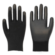 Anti Static Black Polyurethane Coated Palm Gloves With Micron Structure