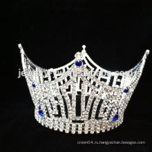 Оптовой моды популярных горный хрусталь для новобрачных корону / свадебный тиару кристалл