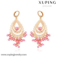 29710- Xuping European Design Bead Chandelier Earring Gold Models