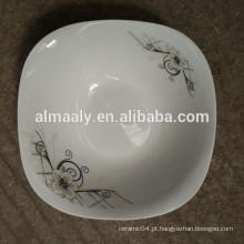 Bacia de salada cerâmica quadrada da forma