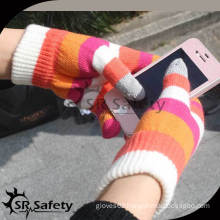 SRSAFETY Hot sale cheap winter acrylic magic knitted glove/touch magic gloves