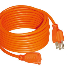 High quality 125v Durable Us Electric Cord 100m AC Power Extension Cable Outdoor Extension Cord