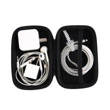 PU Portable Earphone Accessories Carrying Bags Black Earphone Bag Case Zipper Earbuds Headset Headphone Storage Box
