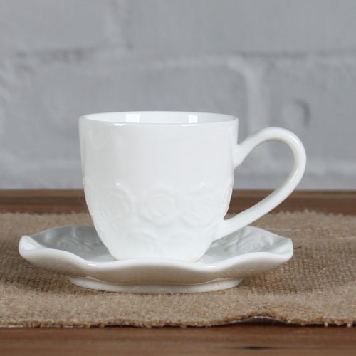 magnesia eboss rose cup and saucer