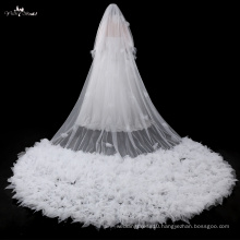 TA041 2017New Products Ruffle 5 Meters Floor Length wedding accessories Veil