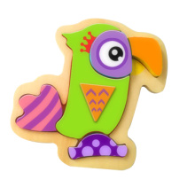 Hot Christmas Gift Wooden Parrot Puzzle Toy for Kids and Children