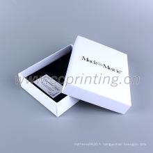 Emballage beau cadeau de boîte de papier blanc pour bijoux avec insert en mousse
