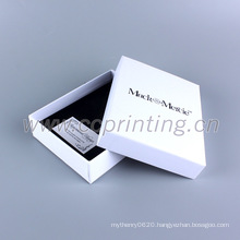 Packaging beautiful white paper box gift for jewellery with foam insert