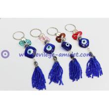 Turkish heart shape evil eye keychain wholesale
