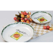 Haonai Elegante diseño de la placa de cerámica de pasta de cerámica
