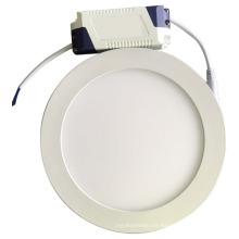 Luz de techo redonda llevada del panel plano, luz de día llevada luz de techo 12w