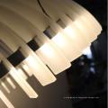 Iluminación pendiente del metal redondo blanco de Decrotive del estilo europeo LED