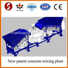 Four batching hoppers MD1200 portable mobile concrete mixing plant