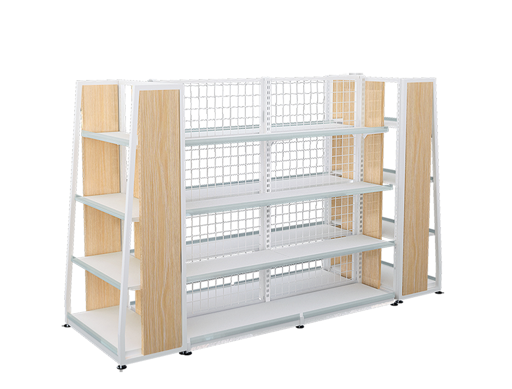 Retail Steel Wooden Shelving
