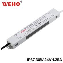 Fuente de alimentación de la transferencia de IP67 24V 30W LED a prueba de agua