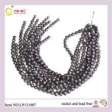 9-10mm Forme de pommes de terre grises Perdre des cordes de perles