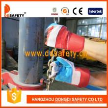 Синие усиленные кожаные перчатки Красные хлопчатобумажные защитные перчатки Dlc320