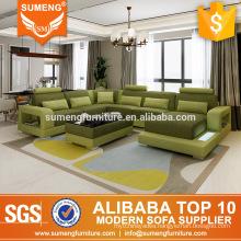 SUMENG Luxury italian green fabric sofa