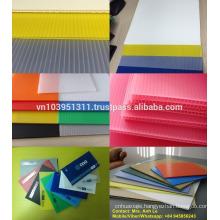 Lightweight, durable, various colors Polypropylene hollow sheet