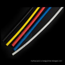Красочные 1.2 кв кремния с резиновым покрытием плетеный sleeving стеклоткани