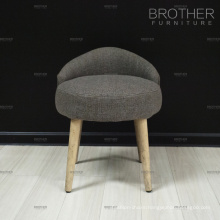 Commercial fabric tufted wood small ottoman round stool with low back