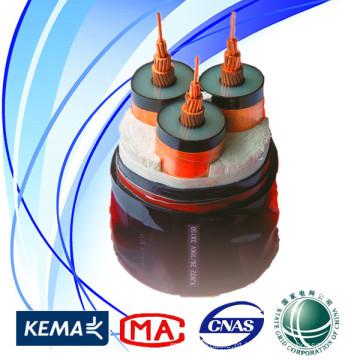 Grade do estado 35kV 3 * 300sqmm cabo de poder da alta qualidade