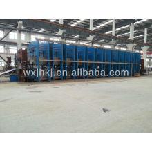 Conveyor belt vulcanizing machine production line