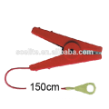 strong electric fence crocodile clips,hook up cable, lead out cable for electric fence tape