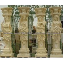 Decorative Roman Column with Stone Marble Sandstone Granite (QCM136)