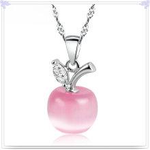 Joyería de la manera Collar cristalino de la plata esterlina de la joyería 925 (NC0013)