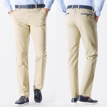 Pantalones de trabajo de ocio personalizados Chino de alta calidad de los hombres