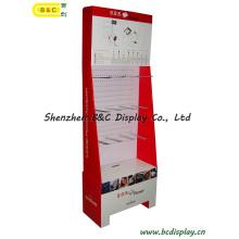 China Shenzhen Cardboard Hooks Display Stand with MDF (B&C-B024)