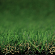 Natural looking artificial green grass carpet for green island